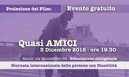 """Giornata internazionale delle persone con Disabilità:<br>visione del film """"Quasi amici"""""""